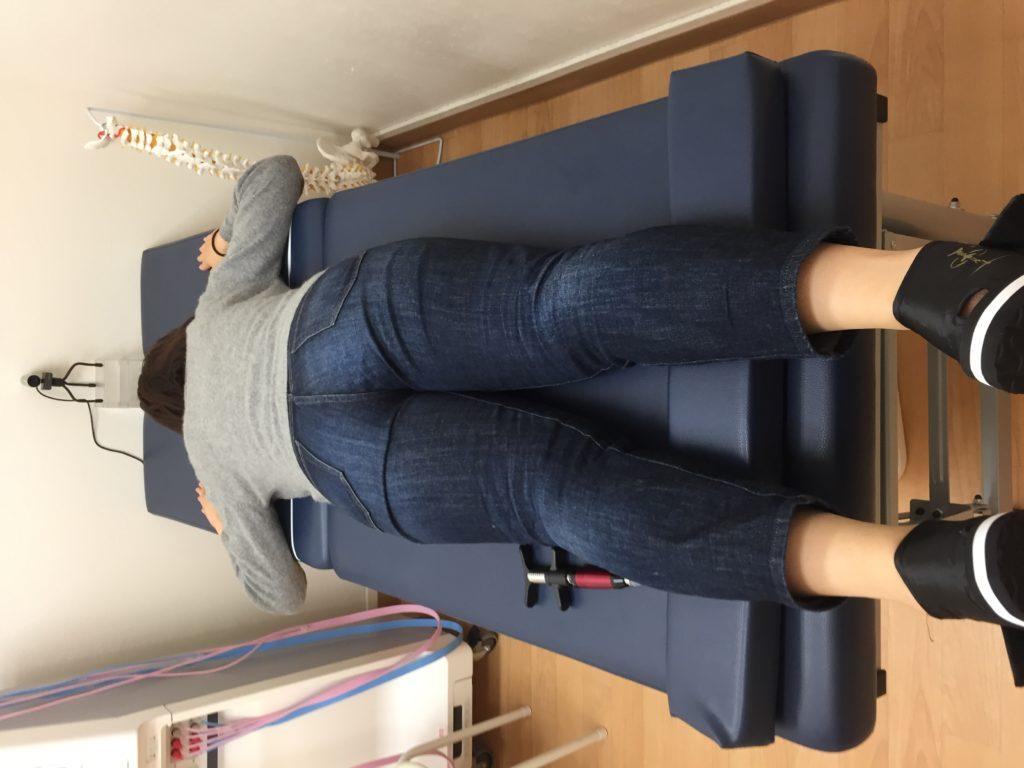 第8胸椎の神経反射テスト