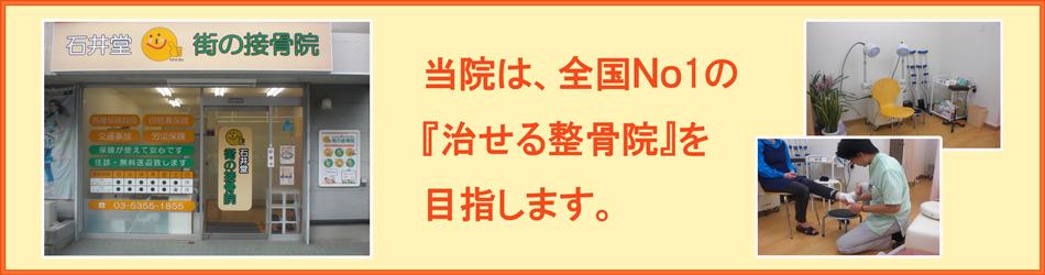 東京杉並世田谷のカイロプラクティック整体・整骨院|石井堂街の接骨院