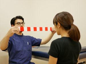 OKNを使った脳の機能テスト