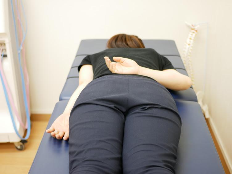第5腰椎の神経反射テスト
