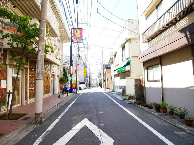 代田橋駅から石井堂街の接骨院への道のり